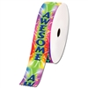 "2"" Wide Multicolor ""Awesome"" Stock Ribbon Rolls - 100 yds."