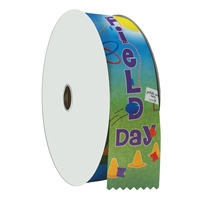 "2"" Wide Multicolor ""Hula Hoop Field Day"" Stock Ribbon Rolls - 100 yds."