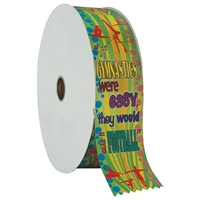 "2"" Wide Multicolor ""Gym Football"" Stock Ribbon Rolls - 100 yds."