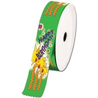 "2"" Wide Multicolor ""Happy Birthday"" Stock Ribbon Rolls - 100 yds."
