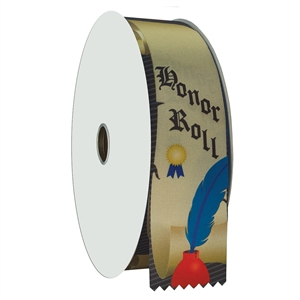 "2"" Wide Multicolor ""Honor Roll"" Stock Ribbon Rolls - 100 yds."