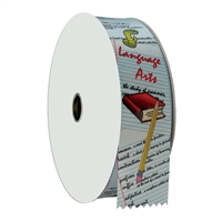 "2"" Wide Multicolor ""Language Arts"" Stock Ribbon Rolls - 100 yds."