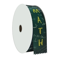 "2"" Wide Multicolor ""Math"" Stock Ribbon Rolls - 100 yds."
