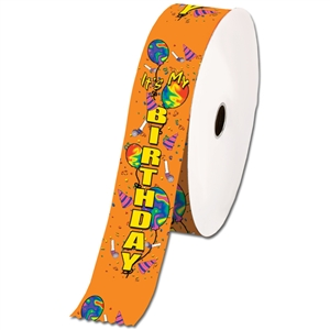 "2"" Wide Multicolor ""My Birthday"" Stock Ribbon Rolls - 100 yds."