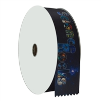 "2"" Wide Multicolor ""Science Rocks"" Stock Ribbon Rolls - 100 yds."