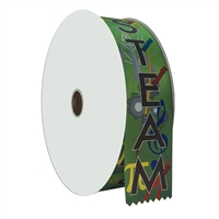 "2"" Wide Multicolor ""STEAM"" Stock Ribbon Rolls - 100 yds."