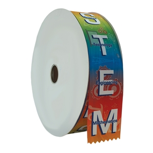 "2"" Wide Multicolor ""STEM"" Stock Ribbon Rolls - 100 yds."