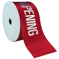 "4"" Wide Hot Stamped Ribbon Rolls - 100 yds."