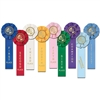 Gymnastics Stock Rosette - 1 Streamer