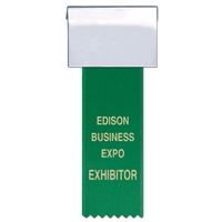 "3"" x 2"" Name Badges w/ Hot Stamped Printed Ribbons"