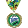 "2-3/4"" XBX Full Color Medal w/ Stock Millennium Neck Ribbon"