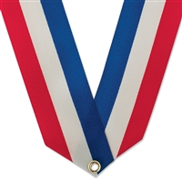 "1-5/8"" Rainbow or Red, White & Blue Neck Ribbon"