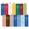 "1-5/8"" x 5-1/2"" Victory Torch Stock Square Top Ribbons"