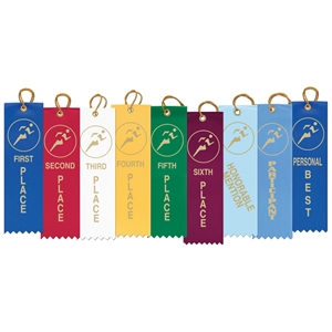 "1-5/8"" x 5-1/2"" Track Stock Square Top Ribbons"