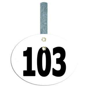 Dressage/Small Oval Exhibitor Numbers w/ Hook