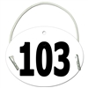 Dressage/Small Oval Exhibitor Numbers w/ Elastic