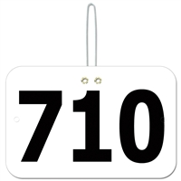 Large Rectangular Exhibitor Number w/ Hook