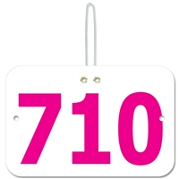 Large Rectangular Exhibitor Number w/ String