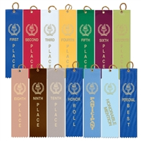 "2"" x 8"" Victory Torch Stock Square Top Ribbons"