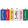 "2"" x 5"" Multicolor Achievement Award Square Top Ribbons"