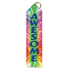 "2"" x 8"" Multicolor ""Awesome"" Stock Point Top Ribbons"
