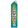 "2"" x 8"" Multicolor ""Champion"" Stock Point Top Ribbons"