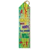 "2"" x 8"" Multicolor ""Gym Football"" Stock Point Top Ribbons"