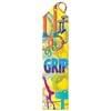 "2"" x 8"" Multicolor ""Get A Grip"" Stock Point Top Ribbons"