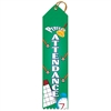 "2"" x 8"" Multicolor ""Perfect Attendance"" Stock Point Top Ribbons"