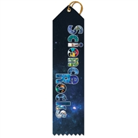 "2"" x 8"" Multicolor ""Science Rocks"" Stock Point Top Ribbons"