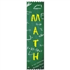 "2"" x 8"" Multicolor ""Math"" Stock Pinked Top Ribbons"