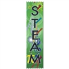 "2"" x 8"" Multicolor ""STEAM"" Stock Pinked Top Ribbons"