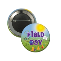 "2-1/4"" Full Color ""Hula Hoop Field Day"" Stock Buttons"