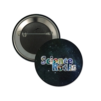 "2-1/4"" Full Color ""Science Rocks"" Stock Buttons"