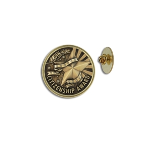 """Citizenship Award"" Stock Lapel Pins"