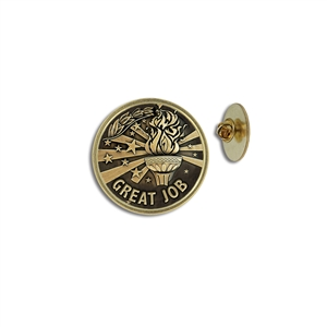 """Great Job"" Stock Lapel Pins"