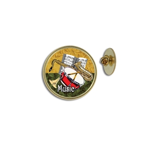 """Music"" Stock Lapel Pins"