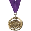 "2-3/8"" ES Medal w/ Grosgrain Neck Ribbon"