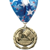 "2-3/8"" ES Medal w/ Stock Millennium Neck Ribbon"