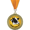 "2-5/8"" GFL Full Color Medal w/ Grosgrain Neck Ribbon"