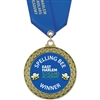 "2-5/8"" GFL Full Color Medal w/ Solid Color Satin Neck Ribbon"