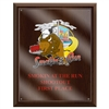"8"" x 10"" Full Color Cherry Finish Plaque w/ Acrylic Overlay"