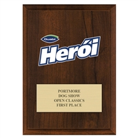 "5"" x 7"" Full Color Custom Plaque - Cherry Finish"