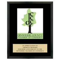 "8"" x 10"" Full Color Custom Plaque - Black Finish"