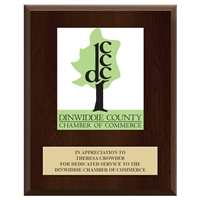 "8"" x 10"" Full Color Custom Plaque - Cherry Finish"