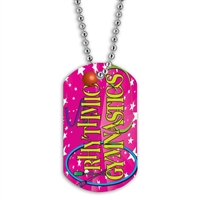 Full Color Dog Tags w/ Gymnastics Stock Designs