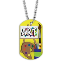 Full Color Dog Tags w/ Scholastic Stock Designs