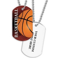 Full Color Dog Tags w/ Athletic Stock Designs & Print on Back