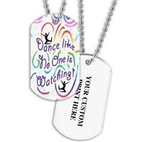 Full Color Dog Tags w/ Dance Stock Designs & Print on Back