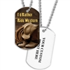 Full Color Dog Tags w/ Equestrian Stock Designs & Print on Back
